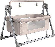 FGDSA Compact Electric Bedside Crib with Mesh