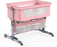 FGDSA Compact Foldable Crib with Mattress,Portable