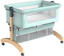 FGDSA Compact Folding Bedside Crib, Foldable Side