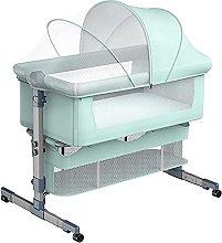 FGDSA Compact Mobile Bedside Crib with Breathable