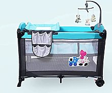 FGDSA Compact Travel Cot Baby Crib with Toys,