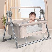 FGDSA Electric Smart Bedside Crib,Toddler Bed with