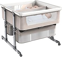 FGDSA Twin Crib,Bedside Crib with Mattress