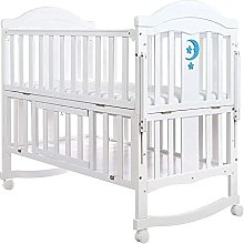 FGDSA Wooden Cot Bed Drop Side with Drawer,