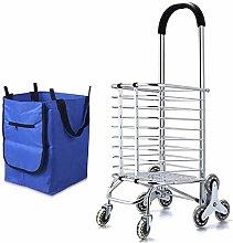 FGH QPLKKMOI Folding Shopping Cart Basket Perfect