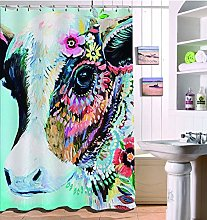 FGHJK Colorful cow Furniture decoration shower