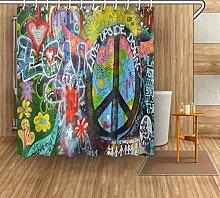 FGHJK Colorful graffiti wall Furniture decoration