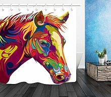 FGHJK Colorful horse head Furniture decoration