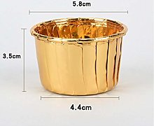 FGHK 50 Pcs/Set Golden Cupcake Wrappers Liner Case