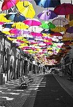 fgjorics Poster Black And White Color Umbrella