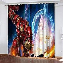 Fgolphd Blackout Curtain Set for Bedroom 3D Print