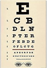 FGVB Antique Eye Test Chart Poster And Prints Wall