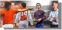 FGVB Johan Cruyff Football Legend Wall Art Poster