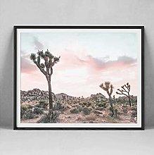 FGVB Joshua Tree Cactus Photography Wall Art
