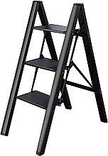 FGVBC Telescoping Ladder 3/4 Steps Stool Ladder