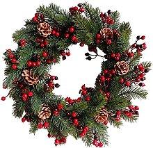 FHKSFJ Artificial Christmas Wreath 45Cm Christmas