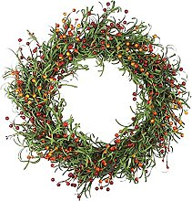 FHKSFJ Artificial Greenery Wreath Christmas