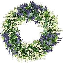 FHKSFJ Artificial Lavender Wreath Front Door Wall