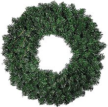 FHKSFJ Artificial Pine Tree Wreath 30 Cm for Front