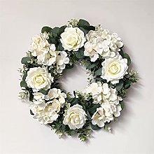 FHKSFJ Artificial Rose Garland Wedding Christmas
