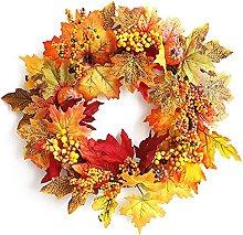FHKSFJ Autumn Wreath Door Decoration Pendant