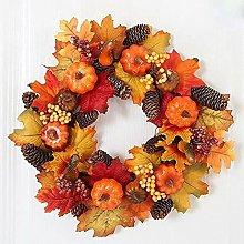 FHKSFJ Autumn Wreath Halloween Front Door