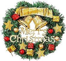 FHKSFJ Christmas Wreath Front Door Decoration 11.8