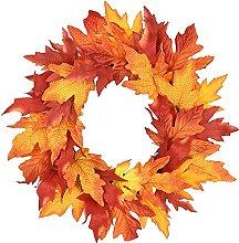 FHKSFJ Halloween Wreath Halloween Decoration Silk
