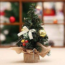 FHKSFJ Mini Christmas Tree Snowflake Artificial