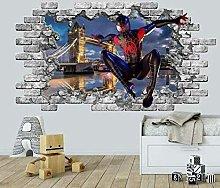 FHMYCSQ 3D Wallpaper Sticker Boys Bedroom Vinyl