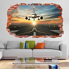 FHMYCSQ 3D Wallpaper Sticker Cartoon Dinosaur Wall