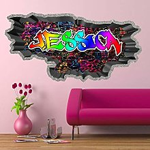 FHMYCSQ 3D Wallpaper Sticker Personalized Graffiti