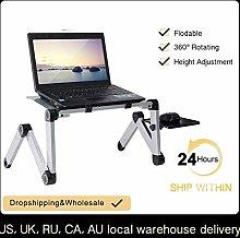 FHT Mobile Lap Table Portable Adjustable Aluminum