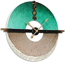 FHTD Non Ticking Large Hanging Clock Quartz