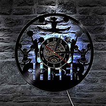 FHTD Wall Clock Vinyl Record Compatible with