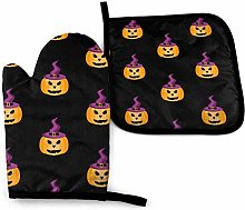 FHTDH Oven Mitts and Pot Holders,Pumpkin in A