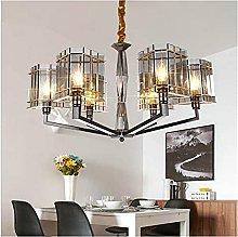 FHUA Ceiling light Luxury Black Glass Crystal 6