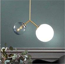 FHUA Ceiling light Nordic Golden Glass Ball Branch