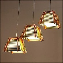 FHUA Ceiling light Vintage Rustic Wood Style