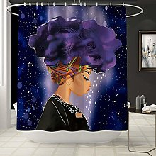 FHUA Shower Curtain Purple shower curtain pattern