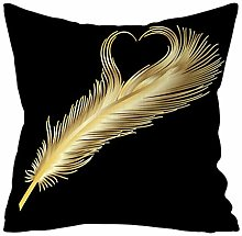 Fhuuly Gold Plant Printed Polyester Pillowcase