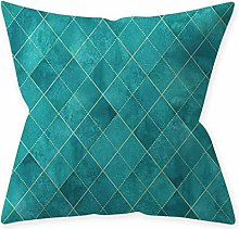 Fhuuly Simple Green Geometric Pattern Multicolor