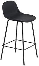 Fiber Bar Bar chair - / H 65 cm - Metal legs by