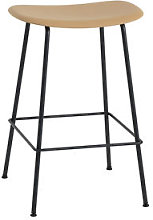 Fiber Bar High stool - / H 65 cm - Metal legs by