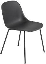 Fiber Chair - Tube leg by Muuto Black