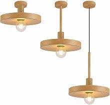 Fiber design pendant light 1 bulb wood effect 15 cm