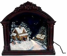 Fibre Optic Christmas In Fireplace Scene