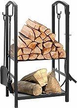 FIDOOVIVIA Outdoor Firewood Racks Wood Basket
