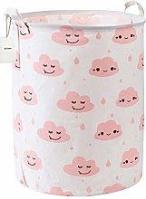 Fieans Large Cotton Linen Laundry Basket Cute