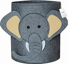 Fieans Nursery Storage Bin Cute Felt Basket Toys